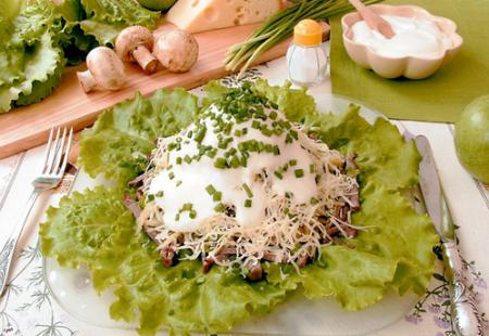 Рецепт Салат из мозгов, сырка и яблок