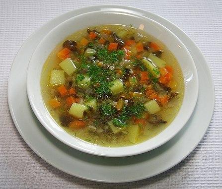 Рецепт Картофельный суп с баклажаном