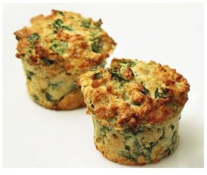 Рецепт Маффины с сыром и зеленью