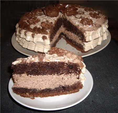 "Рецепт Торт ""Шоколад на кипятке"""