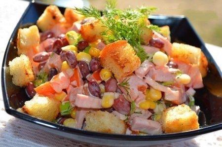рецепты салатов с корейской морковью и консервированной фасолью
