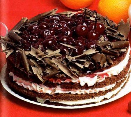 """Рецепт Торт """"Вишня в шоколаде"""""""