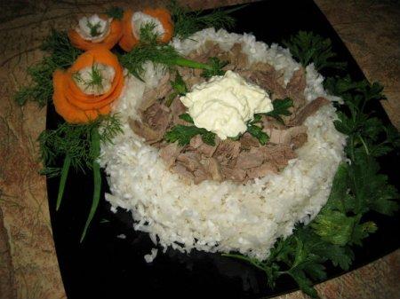 Рецепт Салат с отварной свининой и дайконом