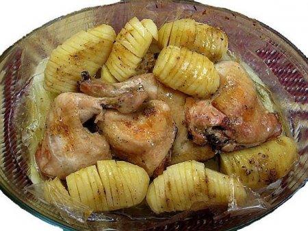 "Рецепт Курица с картошкой ""в рукаве"""