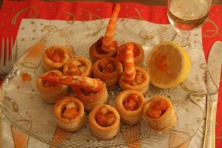 Рецепт Валованы с креветками