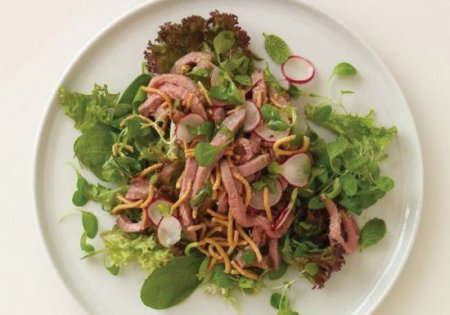 Рецепт Салат из говядины с имбирем