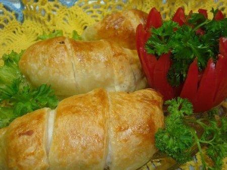 Рецепт Куриное филе в слойке