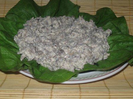 Рецепт Салат из грибов и куриной грудки