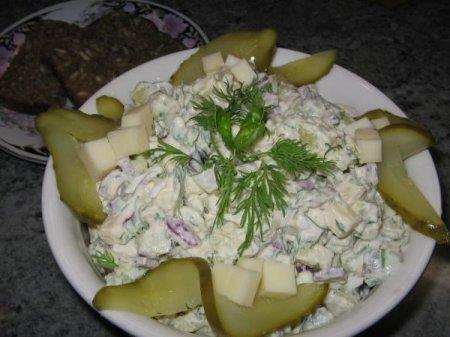 Рецепт Картофельный салат с сыром