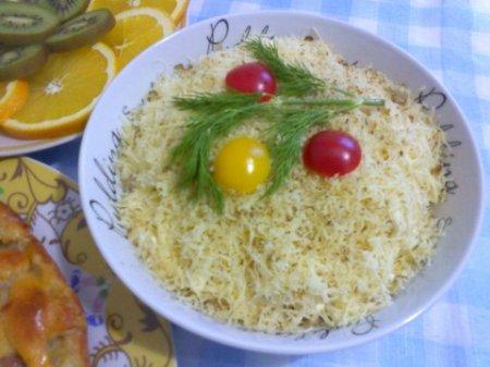 рецепты салатов с семгой и рисом #11