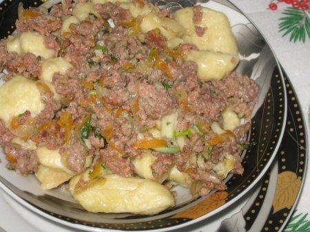 Рецепт Полтавские галушки с мясным фаршем