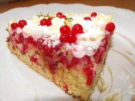 Рецепт Торт-пирог с красной смородиной