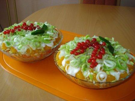 Рецепт Слоённый рисовый салат «Триколоре»