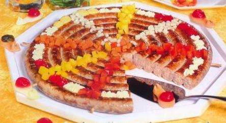 Рецепт Колбасный торт