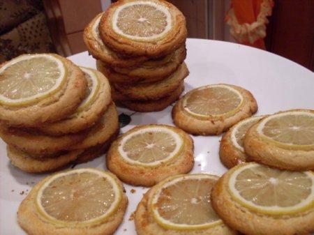Рецепт Миндальное печенье с дольками лимона