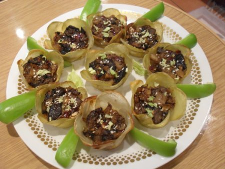 Рецепт Закусочные картофельные цветы