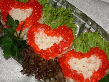 Рецепт Бутерброды-валентинки