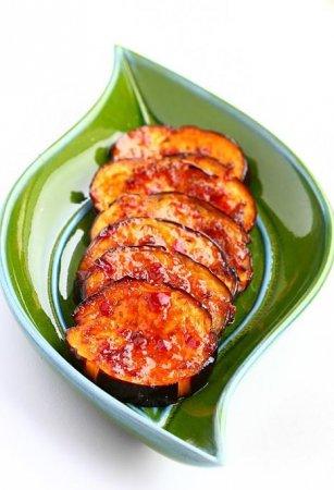 Рецепт Медово-чесночные баклажаны
