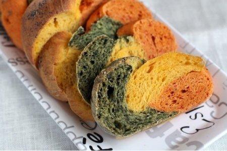 Рецепт Трехцветный хлеб