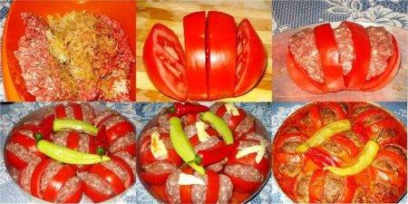 Рецепт Запеченные помидоры с фаршем