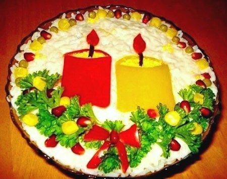 Рецепт Салат «При свечах»