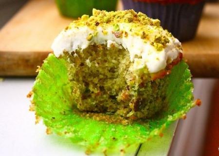 Рецепт Фисташковые творожные кексы