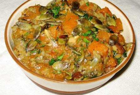 Рецепт Тушеная тыква с грибами