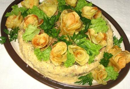Рецепт Картофельный торт с мясным фаршем