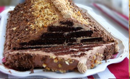 "Рецепт Торт ""Шоколадная пирамида"""