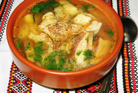 Рецепт Суп с белыми грибами и картофельными галушками