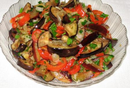 Рецепт Сливово-баклажанный салат