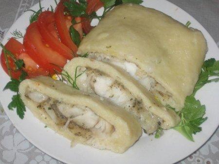 """Рецепт Рыба в картофельно-паровой """"Шубке"""""""