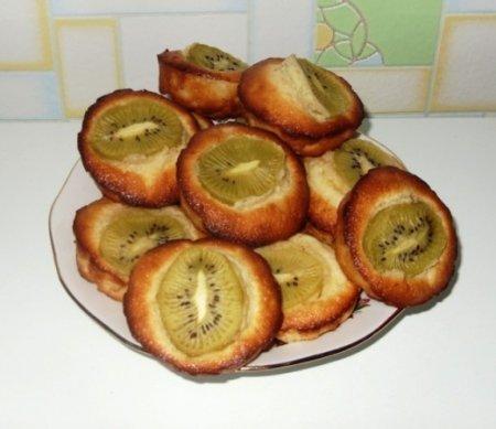 Рецепт Лимонные маффины с киви