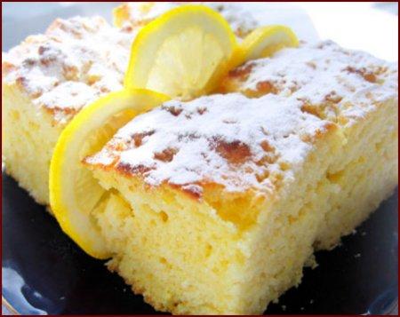 Рецепт Легкие лимонные пирожные
