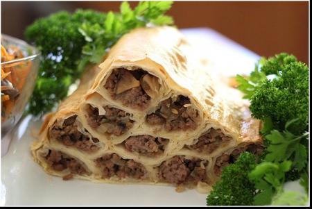 """Рецепт Пирог с мясом """"Монастырская изба"""""""