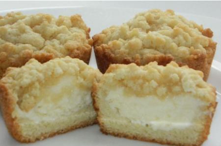 Рецепт Тертые песочные кексы с творожной начинкой