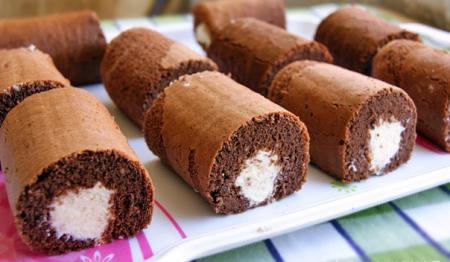 Рецепт Шоколадное пирожное с творожно-кокосовым кремом