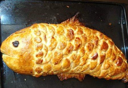 Рецепт Пирог из двух сортов рыбы