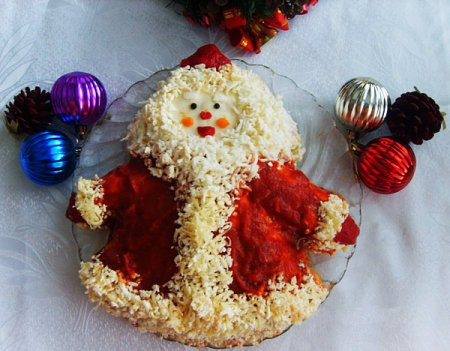 "Рецепт Салат ""Дед Мороз"""