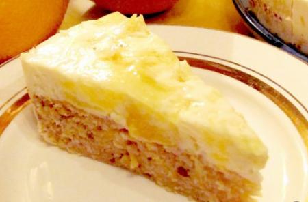 Рецепт Мраморный апельсиновый пирог