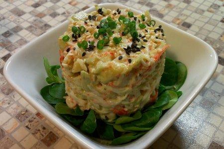 Рецепт Салат из авокадо и крабового мяса