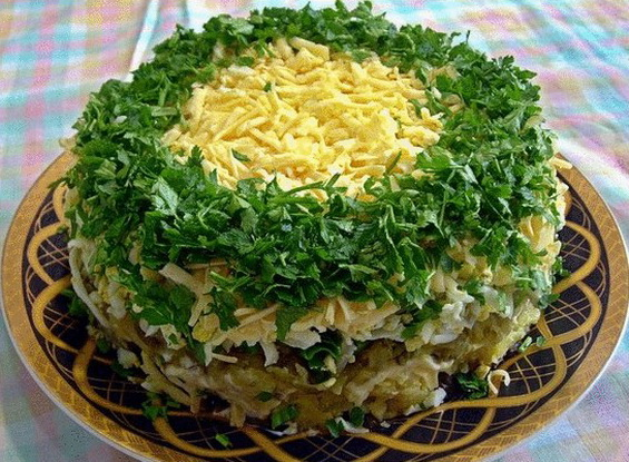 рецепт салат с грибы