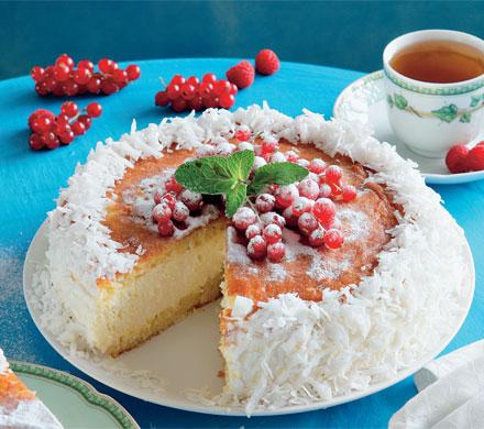 Рецепт Апельсиново-творожный торт с кокосовой стружкой