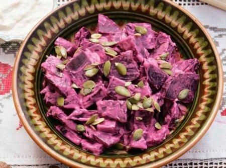 Рецепт Салат из свеклы с тыквенными семечками