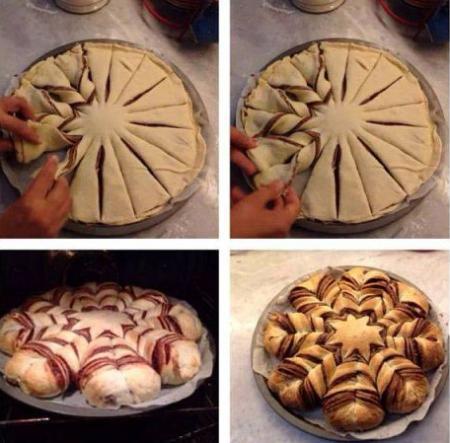Пирог Шоколадный цветок