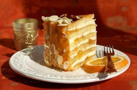 """Рецепт Песочный торт """"Апельсин"""""""