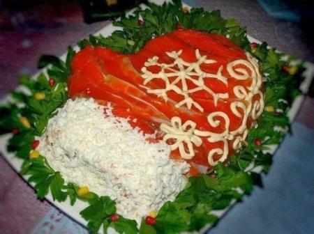 Рецепт Салат «Варежка Деда Мороза»