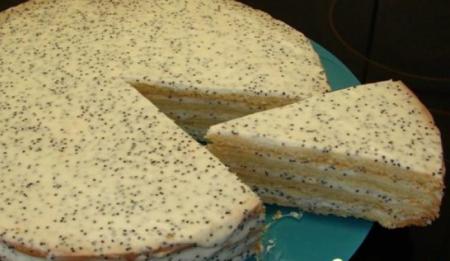 Рецепт Сметанный торт с маком
