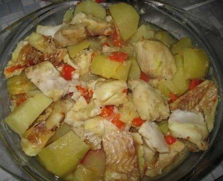 Рецепт Хек с овощами