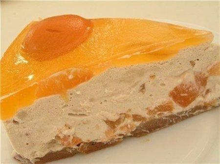 Рецепт Абрикосовый торт с йогуртово-кофейным кремом